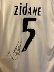Original Signed Zidane Real Madrid Adidas Home Jersey, Collector's Item