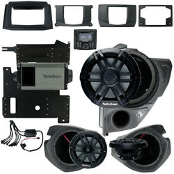 Rockford Fosgate Rzr14-stg3 Stereo, Subwoofer And Front Speakers For Polaris Rzr