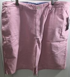 Club Room Mens Shorts Porcelain Pink Size 36 Classic Fit Chinos D558 Nwt