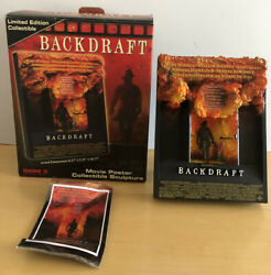 Backdraft Code 3 Movie Poster Collectible Sculpture Artwork 3 Dimensional Depth