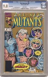 New Mutants 87gold Cgc 9.8 1991 0965546014 1st Full App. Cable
