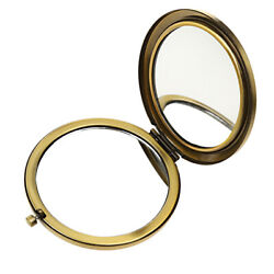 Antique Bronze 2-sided Magnify Mirror Portable Round Mirrors For Women
