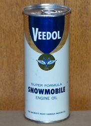 Old Canadian Veedol Snowmobile/skidoo Full Unopened Motor Oil Tin Can Free S/h