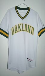 Game Issued Majestic Authentic Oakland Athletics Turn Back The Clock Jersey 40