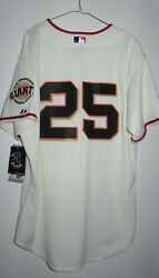 New Majestic Authentic Barry Bonds 25 San Francisco Giants Home Jersey 48 Xl