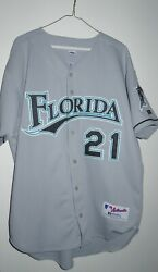 Russell Authentic Josh Beckett Florida/miami Marlins Jersey 44 Large L