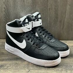 Nike Air Force 1 High '07 Men's Sneakers Size 10 Black White Ct2303-002