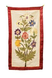Vintage Embroidery, Vintage Embroidered Wall Hanging, Thread Hand Work