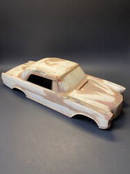 Vintage 1960s Mercedes W111 W112 Wooden Tin Toy Car Scale Body Form Mold Master