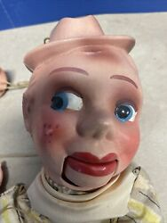 Vtg Rusty The Cowboy Plastic Ventriloquist Marionette Doll Puppet-read The Info