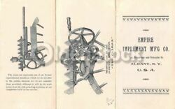 Empire Implement Co. Albany Ny Farm Inventions Antique Graphic Advertising Broch