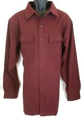 Ll Bean Mens Chamois Flannel Shirt Size Xlt New Red Long Sleeve Button Fitted