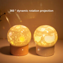 Usb Led Projector Night Lamp Planet Elk Ocean Music Projection Light Child Gift