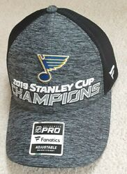 New St. Louis Blues Hat Cap New 2019 Stanley Cup Champions Locker Room Champs 19