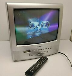 Haier 13 Tv Dvd Combo W Atsc Tuner Color Crt Tv Tcr13-a W Remote Control