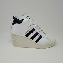 New Adidas Superstar Ellure Womenand039s Shoe Sneaker Fw0102 Casual Wedge Heel Size