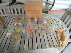 New York Worlds Fair 1940 Glasses 43 Piece Set Boxed Libbey Unused Amazing Find