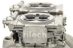 Fitech Go Efi 2x4 Dual-quad 625 Hp Self-tuning Polished Fuel Injection System