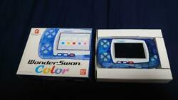 Bandai Wonder Swan Color Crystal Blue Console In Good Condition