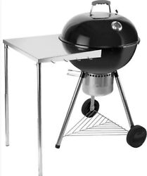 Stanbroil Stainless Steel Work Table Fits All Weber 18, 22 Charcoal Kettle Gri