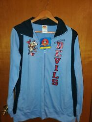 Looney Tunes 90and039s Taz Devil Long Sleeve Full Zip Lightweight Jacket Womenand039s...