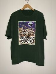 """Vintage Big Bad Voodoo Daddy Autographed """"christmas Time"""" Swing Band T-shirt Xxl"""