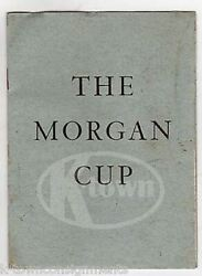 The Morgan Cup 50th Anniversary History Of Winners Vintage Souvenir Booklet 1949