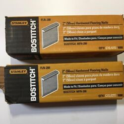Two Packages- Bostitch Flooring Nails, L-nail, 2-inch, 1000-pack Fln-200
