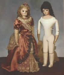 Rare French Lady Doll 18 Leather Jointed Body Pattern Book Reproduction