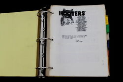 Vtg Limited Made 1993 Mit Hooters Kitchen Chef Cook Wait Training Manual Book
