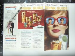 1968 Southern Comfort Whiskey 12pg Booklet Unopened Ad Girl Watchers Drink Guide