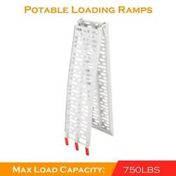Double 7.5and039 Heavy Duty Aluminum Folding Loading Ramp Motorcycle Arched Truck Atv