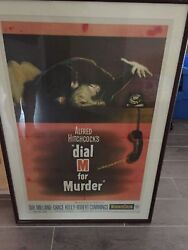 Dial M For Murder Alfred Hitchcock Original Us One [1] Sheet Movie Poster 1954