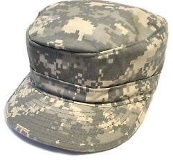 New Military Size 7 Fitted Army Camo Patrol Hat Digital Camouflage Cap