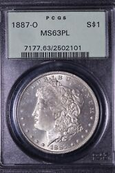 1887-o Morgan Silver Dollar Pcgs Ms63pl Ogh Better Date Free Shipping Wnnm