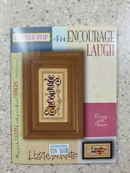 lizzie kate cross stitch pattern encourage laugh pattern with charms $4.90
