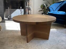 Solid Oak Usa Coffee Cocktail Table Usa Modern Workstead Bddw Amber Interiors