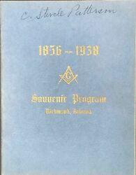 Official Souvenir Program Of The Grand Lodge Of The Free And Accepted Masons