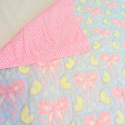 Pb Zoey Butterfly Quilt Twin 68x86 Pink Blue 100 Cotton Bedding Photo Display