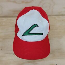 Pokemon Ash Ketchum Youth / Kids Cosplay Anime Game Hat Cap Red White