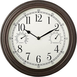 Westclox Indoor/outdoor 12 Thermometer And Humidity Wall Clock 33027