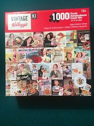 Kellogg's Breakfast Cereal Vintage Boxes 1,000 Piece Jigsaw Puzzle, Awesome
