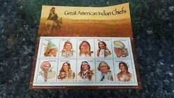 Gambia - 2005 - Great American Indian Chiefs Sheet Of 10 Stamps Mystic Stamp Co.