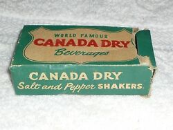 Vintage World Famous Canada Dry Water Club Soda Beautiful Rare Bottle Shaker Top