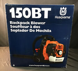 New Husqvarna 150bt Commercial 50cc 2 Cycle Gas Backpack Blower.