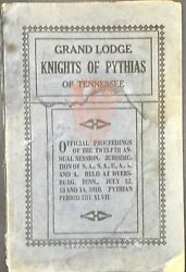 Official Proceedings Of The Twelfth Annual Session Of The Grand Lodge Knights