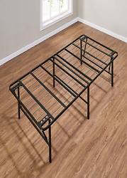 Mainstays 18 High Profile Foldable Steel Bed Frame, Powder-coated Steel, Twin