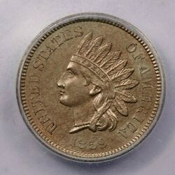 1859-p 1859 Indian Head Cent Icg Ms62