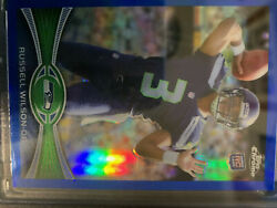 2012 Topps Chrome Russell Wilson Rookie /199 Blue Refractor