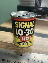 1956 Vintage Signal Gas And Oil Can Coin Bank Outboard Motor Oil Los Angeles Ca
